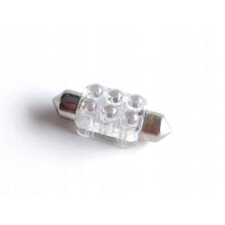Żarówka rurkowa C5W 6 SMD glass BIAŁA 36mm 12V