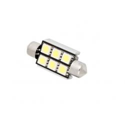 Żarówka rurkowa C5W 6 SMD CAN BUS LED BIAŁA 36mm